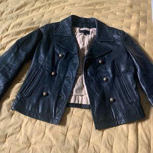 Gorgeous black leather Wilson jacket